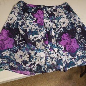 XXL women's floral skirt